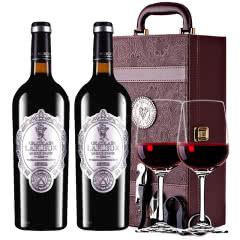法国进口红酒拉斐天使酒园 干红葡萄酒红酒两支礼盒装750ml*2