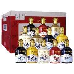 52° 贵州茅台镇利波 十二生肖纪念酒·豪华版 浓香型白酒礼盒整箱 500ml*12