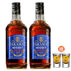【买赠酒杯】40°法拉玛依洋酒 珍藏级贵爵威士忌烈酒700ml*2瓶