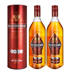 40°英国原酒进口威尔斯苏格兰威士忌可乐桶700ml*2瓶