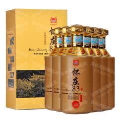 53°贵州怀庄83盛世佳酿酱香型白酒500ml*6【整箱】