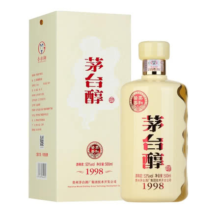 (買一送一)53°貴州茅臺集團茅臺醇1998醬香型白酒禮盒500ml