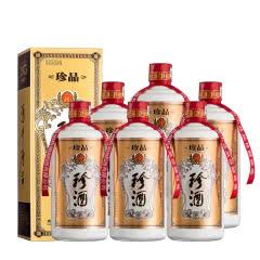 53°珍酒珍品 贵州酱香型白酒礼盒装 易地茅台酒 固态纯粮 500ml*6瓶 整箱装