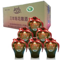 15°绍兴黄酒古越龙山鉴湖牌花雕酒3年陈 1.5 L (6瓶装 )