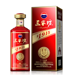 【老酒特卖】53°三家坊·1915酒 (红坊)500ml(2016年)