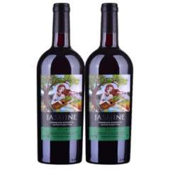 【酒仙甄选】法国红酒茉莉花超级波尔多干红葡萄酒750ml(双瓶装)
