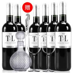 法国红酒整箱法国(原瓶进口)葛拉芙特藏干红葡萄酒750ml*6支装