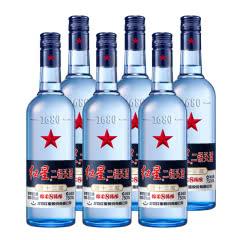 43°红星二锅头蓝瓶绵柔8 750ml(6瓶装)白酒整箱