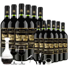 【买1箱发2箱】法国原瓶原装进口红酒AOP/AOC级干红葡萄酒750ml(6瓶装)