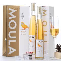慕拉(MOULA)黄金冰酒 礼盒装 金钻威代尔冰葡萄酒甜酒冰谷 375ml*2支