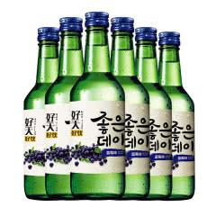 韩国清酒烧酒 好天好饮水果味洋酒 原瓶原装进口配制酒 蓝莓味360ml*6瓶