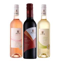 法国原瓶进口红酒 波尔多 AOP级 山图微甜干红小瓶装女士葡萄酒375ml*3
