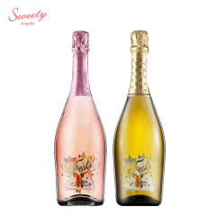 意大利原瓶进口起泡酒 甜蜜极冰甜桃红+白起泡酒双支装750ml*2瓶