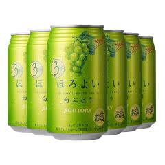 和乐怡(HOROYOI) 三得利 日本进口 预调酒 鸡尾酒 果酒 白葡萄口味350ml*6