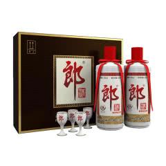 53° 郎酒 郎牌郎酒 酱香型白酒 500ml*2 礼盒装