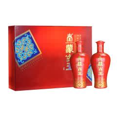 蒙古王 52度红礼盒浓香型白酒500ml*2瓶礼盒装