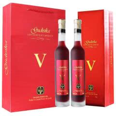 加拿大原瓶进口红酒 古蒂斯卡晚收红葡萄酒礼盒装375ml*2