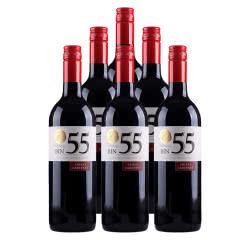 澳大利亚米隆庄园bin55色拉子赤霞珠半干红葡萄酒750ml*6