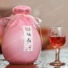 12°黄氏花果酒露酒桃花荔枝樱桃黑糯米蓝莓玫瑰糯米桑葚桂花青梅酒500ml单瓶