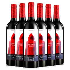 西班牙奥兰小红帽干红葡萄酒原瓶进口红酒750ml*6瓶整箱装
