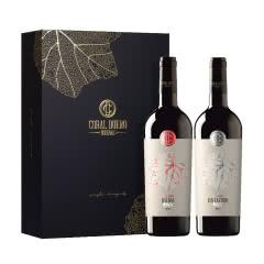 西班牙原瓶进口红酒 高麓Coral Duero托罗酒庄 红银干红葡萄酒750ml*2礼盒装