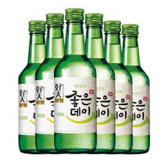 16.9度韩国原瓶进口好天好饮烧酒原味360ml(6瓶)