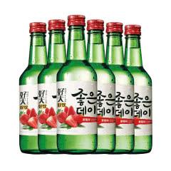 13.5度韩国原瓶进口好天好饮烧酒草莓味360ml(6瓶)