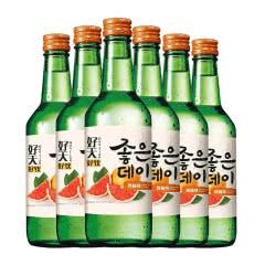 13.5度韩国原瓶进口好天好饮烧酒西柚味360ml(6瓶)
