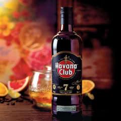 40°哈瓦那俱乐部7年黑朗姆酒700ml