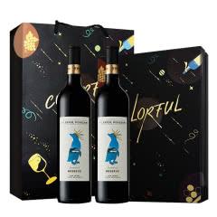 13.5%vol 澳大利亚进口红酒风趣企鹅皇冠家族西拉美乐干红葡萄酒750ml*2只装