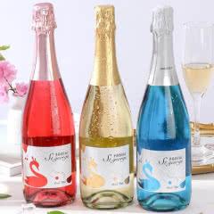 香槟酒起泡酒果酒气泡酒白葡萄酒水果酒低度酒甜型750ml*3瓶 3种口味