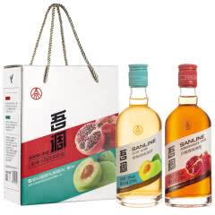 10°吾调•果味配制型小酒混装套盒(石榴酒375ml,青梅酒375ml)*2