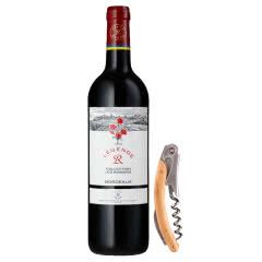 法国传奇源自拉菲罗斯柴尔德经典玫瑰红葡萄酒750ml+酒刀