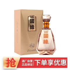 【厂家自营】今世缘国缘V6 49度高端商务白酒500ml单瓶装宴会礼酒