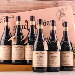 【红酒礼盒】法国进口红酒13.5度老藤珍酿浮雕重型瓶干红葡萄酒 整箱750ml*6瓶
