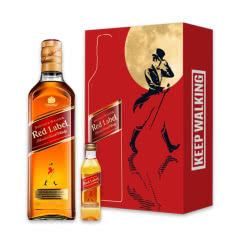 尊尼获加(Johnnie Walker)洋酒红方红牌 调配型苏格兰威士忌中秋礼盒