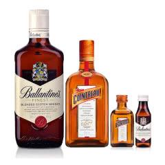 40°君度力娇酒350ml+40°英国百龄坛特醇苏格兰威士忌500ml+君度小酒+百龄坛小酒